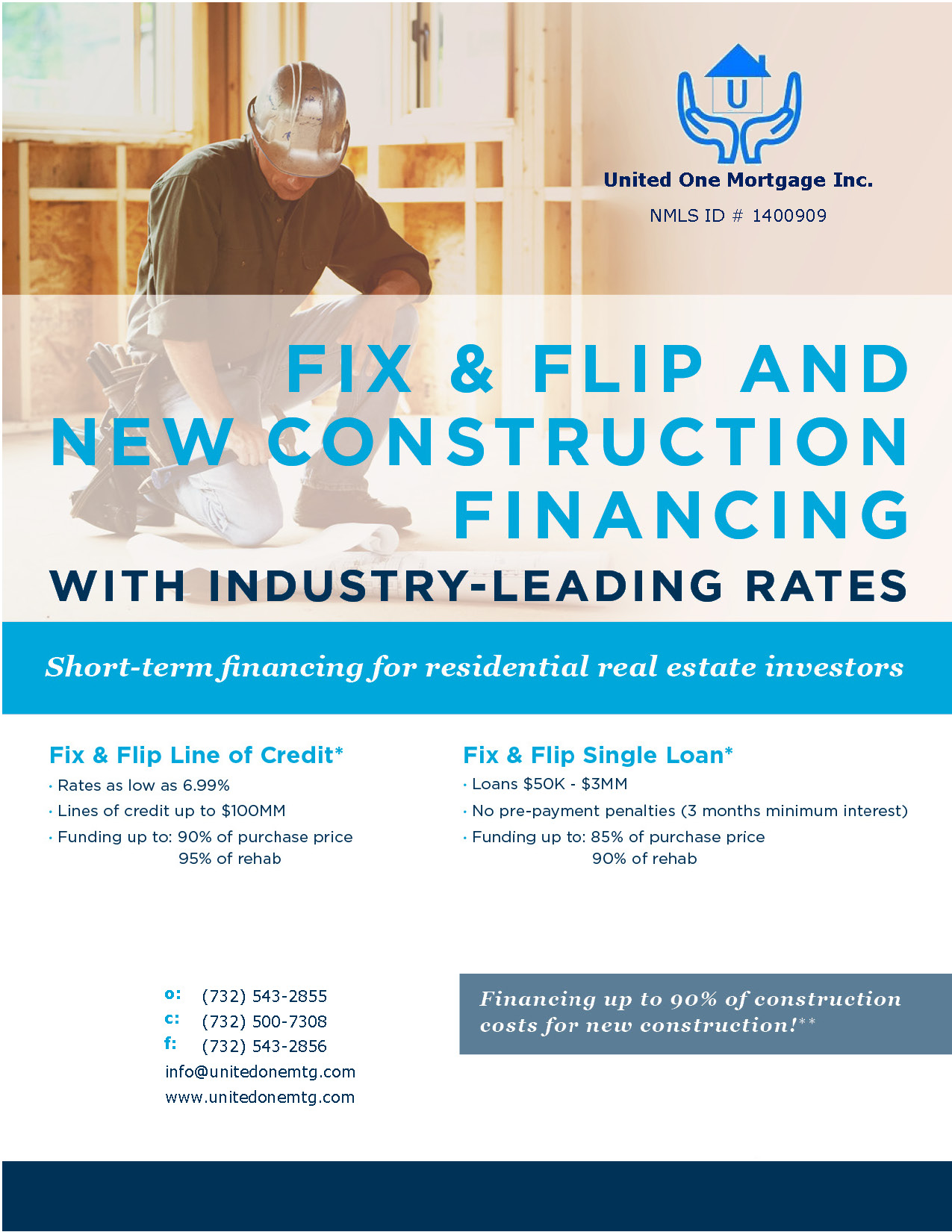 Fix & Flip And New Construction Financing